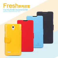 NILLKIN fresh series leather case for huawei G700,free shipping