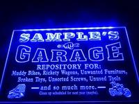 DZ017- Garage Repair Shop Room Bar Beer Neon Light Sign  hang sign home decor shop crafts led sign
