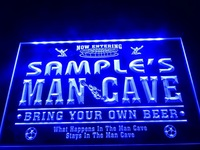 DZ034- Name Personalized Custom Man Cave Soccer Bar Beer Neon Sign   hang sign home decor shop crafts led sign