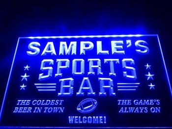 DZ070-b Name Personalized Custom Sports Bar Beer Pub Neon Sign led Crystal Light Box Hang Doorplate Shop Ultra-thin Light
