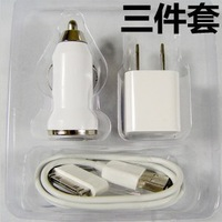 usb car charger  adaptor and usb charging cables kit free shipping