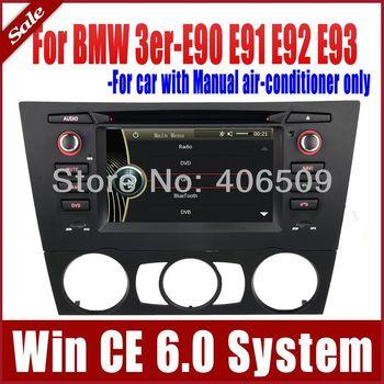 Car DVD Player GPS Navigation for BMW 3 Series E90 E91 E92 E93 with Radio Stereo Bluetooth TV SD SWC USB AUX Audio Video SatNav