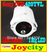 CCTV Camera 1/3 Sony CCD Waterproof 1 Led IR Night Vision 420TVL Surveillance Video Camera Out Or Indoor Free Shipping Joycity