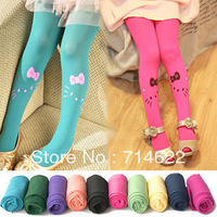 free shipping! baby girls' leggings 10pcs Hello Kitty pantyhose candy colors  velvel leggings