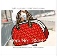 Free shipping 2013 hot cartoon bag DIY fashion Bowling bag 3d cartoon comic bag Red, women messenger should bags,dropshipping