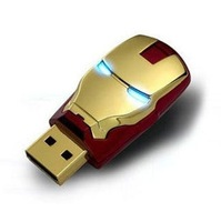 S-71 Wholesale Sale Flawless Avengers Iron Man LED Flash 4GB 8GB 16GB 32GB 64GB USB Flash 2.0 Memory Drive Stick Pen/ThumbCar