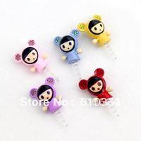 Min.order is $10 (mix order) Free Shipping Universal 3.5mm cartoon cute anti dust dustproof Earphone Jack Plug, wholesale,