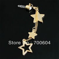 Min.order is $10 (mix order) Free Shipping 2013 Newest! Bling Star 3.5mm Universal Size Anti Dust dustproof Cap Charm for iPhone
