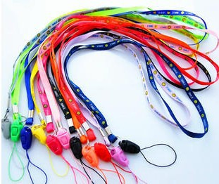 FREE SHIPPING Neck Strap SLING mobile cell phone rope cord cute smile colorful Lanyard promotion gift 460pc/lot say hi 2RX 30225