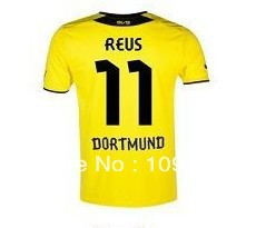 free shipping! 12-13 best Thai quality Borussia Dortmund 3rd Away Champion League jerseys 11# Reus soccer jersey, football shirt(China (Mainland))