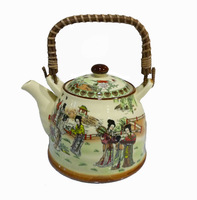 Pastel Teapot  Porcelain Tea Sets Tea Pot 1000CC 12 Beauties Figure From De Hua , China