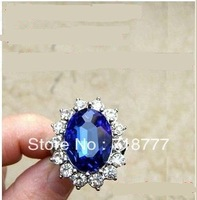 Free Shipping Kate Middleton And Prince William Royal Wedding Engagement Sapphire Imitation Ring Diana's Rings