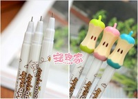 12pcs/ a lot , lovely apple shape gel pen / ink pen Black color