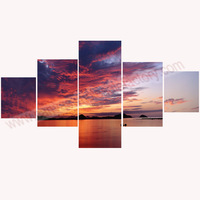 Wall Art Canvas Painting 5 Piece Canvas Art of Seascape Paintings Canvas Prints Unstretched for Modern Living Room Dropshipping