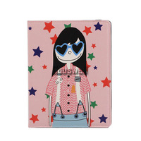Freeshipping Cartoon Leather Case for iPad Mini 7.9 inch High quality+free screen protector