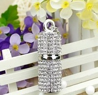 K-029 S-8 Wholesale Hot Cheap Enough Crystal Cylindrical 128M4G 8G 16G 32GB  USB 2.0 Flash Memory Stick Drive Thumb/Car/Pen Gift