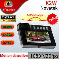 Newest Arrival!K2W Car DVR Recorder With Full HD 1920*1080P 2.7 inch LCD 170 degrees wide Angle G-Sensor HDMI Car Black Box