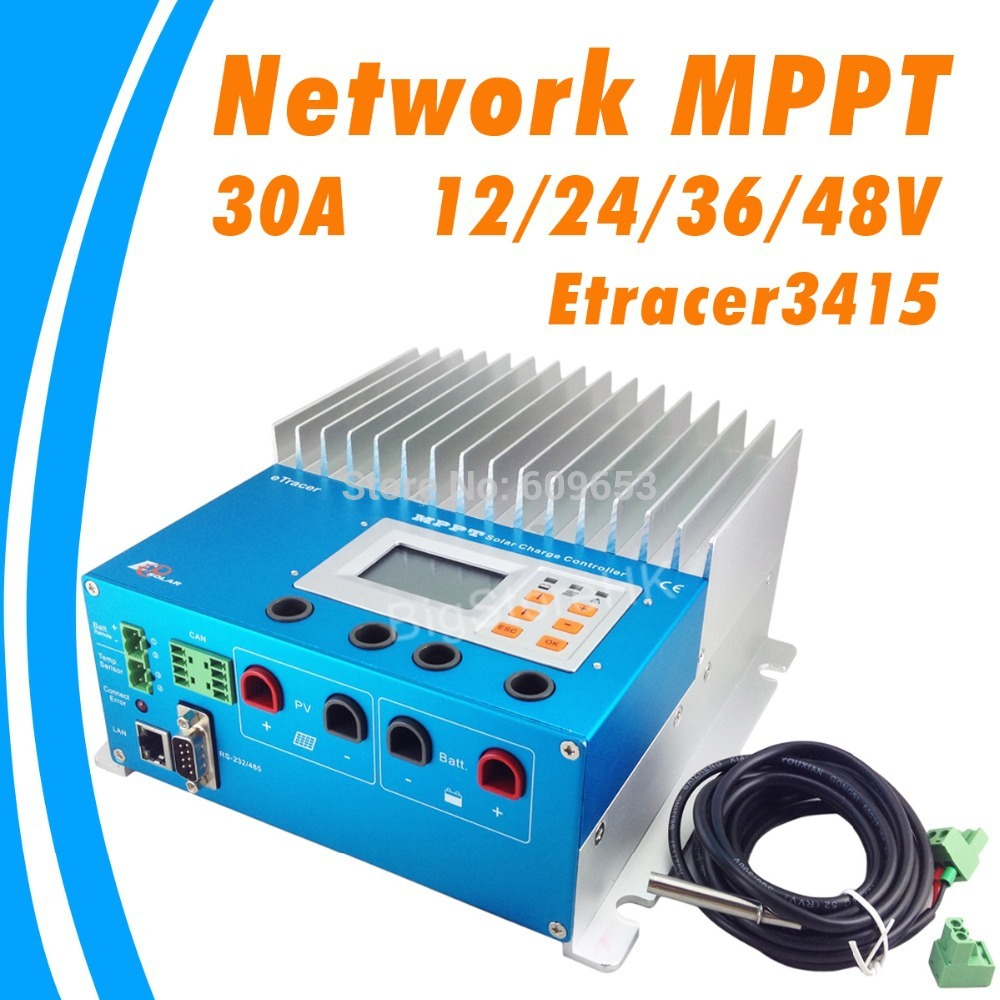 30A ET2415N 12V 24V 36V 48V auto Work eTracer MPPT Solar Panel Battery Charge Controller Regulators(China (Mainland))