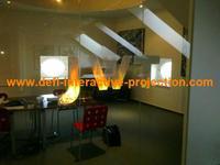 , 15 square meter ( 1.524 m  * 10 m )  transparent color rear projection film/foil