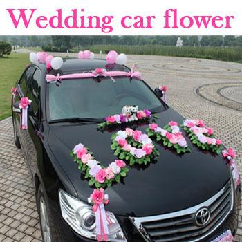 ... voiture-de-mariage-décoration-bouquet-de-mariage-fleurs-de-mariage