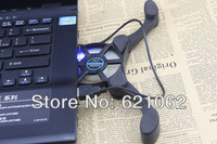 2 Fan USB Cooler Pad Folding Laptop Notebook Cooling Fan Black for Computer Components Accessories Free Drop Shipping