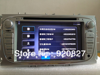 Capacitive Touch Screen LCD In Dash 2 Din Car Head Deck GPS DVD Player TV 1Ghz Android WIFI 3G For Ford Mondeo S-Max Focus