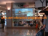 2 square meters (1.524m * 1.33 m )  Holographic transparent Rear Projection film