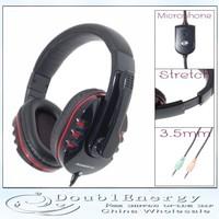 Free shipping Microphone Headphone  Kanen KM-790 Ergonomic Stereo Headset Headphone with Microphone Black + Red