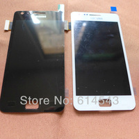 10pcs/lot 100% original for Samsung i9100 Galaxy S2 LCD with Touch Digitizer Assembly black white mix free shipping by DHL EMS