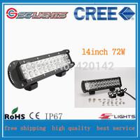 72W Cree LED Work Light Bar  Flood  Beam Offroad Light 12V 24V LED Work Lamp For ATV SUV 4WD Boating Hunting Led Cars