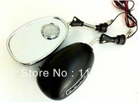Cool Man Fashion Motorcycle Bike Back  Rearview Mirror + Speaker + MP3 Player +  FM Radio 8mm,10mm