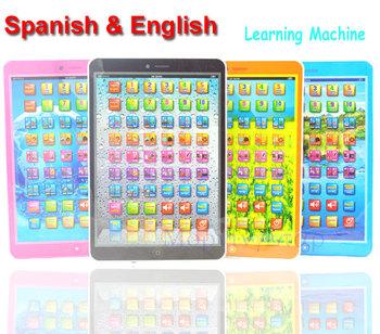 Spanish + English Language Educational Study Learning Machine Computer Toys For Children Kids Boys Girls