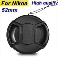 Free Shipping 52mm lens cap for nikon the D60 D5100 D3100 D5000 D3200 D5200 18 - 55 lens With Rope