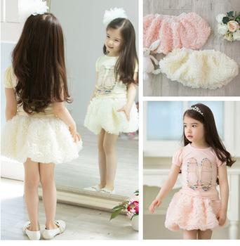 New 2014 summer  baby girls children's skirts  Beautiful Rose tutu skirt for girls petti skirt 2 Color  Free Shipping