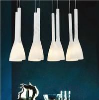 Modern chandelier Cream white glass dining room pendant lamp Home decorationhanging light E27 110V 240V Free shipping