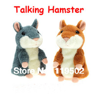 Talking hamster woody o'time talking toy for kid's gifts +free shippment