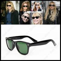 2013 Hot Sele Men's/Woman's Glasses Brand Designer High Quality Sunglasses Black Frame Green Lens RB oculos de sol Free Shipping