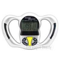 New Handle BMI Body Mass Index Health Fat Analyzer Monitor Digital LCD Show Data
