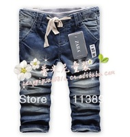 Wholesale --Free shipping 5pcs /1lot 2014 new children's pants summer children's wear jeans Children jeans