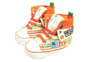Retail fashion baby boys girls canvas superfine canvas shoes good quality soft sole infant prewalkers free shipping