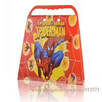 Free Shipping 1PCS  Large Spiderman  pp Cartoon handbags ,Kid's School bag ,International Children's Day gift  , kid party gift