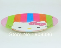 60PCS cartoon 9 inch hello kitty children's birthday party supplies disposable cake plate/fruit plate/paper plate/food plate )N3