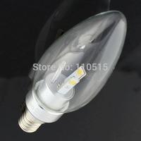 High power led bulb 6W E12 E14 LED spot light lamp 110-240V led candle lighting  100pcs/lots Free shipping byDHL