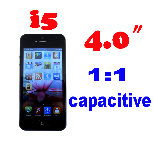 by dhl or ems 10 pieces 4.0 inch Capacitance screen i5 Phone 5G Phone WIFI 5 5s i5 unlocked phone Black white(China (Mainland))