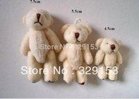 Hot Sale Free shipping  100pcs/lot,H- 4.5cm  Lovely Mini Bear Toys Stuffed Plush Children Bear  use for bag,callphone,wedding