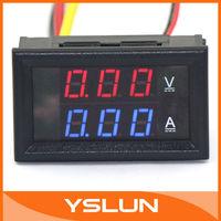 DC 0-100V/10A Blue Red LED Volt Amp Monitor Meter YB27-VA 2in1 Voltmeter Ammeter for Car Motorcycle and DIY ect #100014