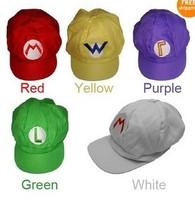 Luigi Super Mario Bros Cosplay Adult Kids Anime Cosplay Baseball Hat Cap New Hot