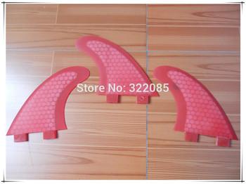 pink  G5 honey comb  surfboard fin