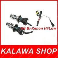 2X Bi Xenon 55W H4 12V AC HID Automotive Headlight Replacement Bulbs H4-3 BiXenon Hi/Lo Beam Lamp only bulb FREE SHIPPING AAA