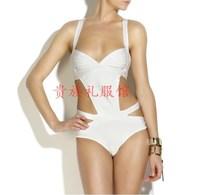 Sexy Bandage HL Swimsuit Paris Beachwear Swimwear Bikini black White